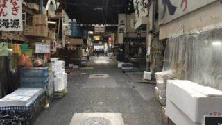 築地市場のストリートビューと雨雲レーダー/東京都中央区