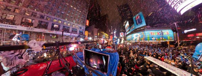 New Year's Eve Midnight 2010 のパノラマビュー/アメリカ ニューヨーク