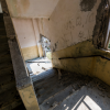 軍艦島 端島小中学校の階段パノラマビュー