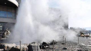 間欠泉センターパノラマビューと雨雲レーダー/長野県諏訪市