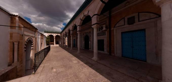 ユセフデイ‐モスク(イスラム寺院)パノラマビュー/チュニジア チュニス