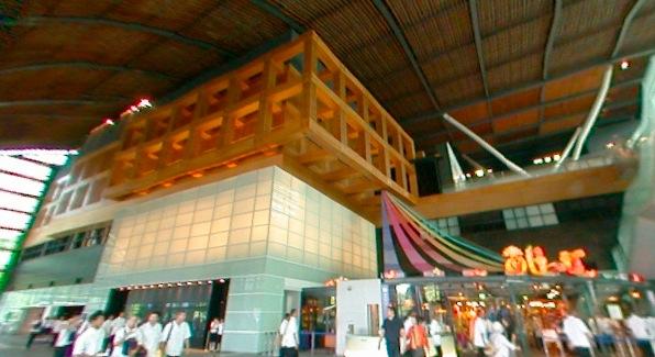 九州国立博物館のパノラマビューと雨雲レーダー/福岡県太宰府市