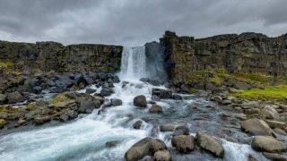 オクスアルアゥルフォス滝パノラマビュー/アイスランド