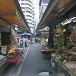 築地場外市場のストリートビュー