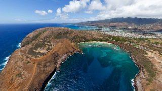 オアフ島 ハナウマ湾パノラマビュー/アメリカ ハワイ