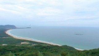 幣の浜(にぎのはま)パノラマビューと雨雲レーダー/福岡県糸島市