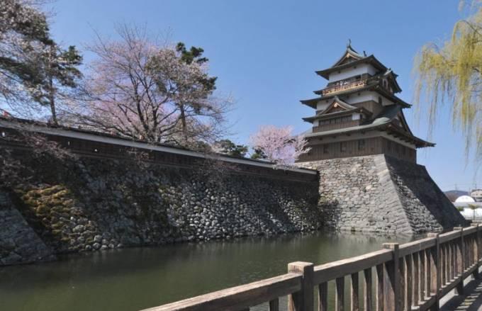 高島城パノラマビューと雨雲レーダー/長野県諏訪市