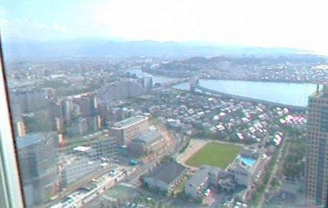 福岡タワー(展望室)から見えるパノラマビュー