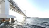 大鳴門橋のパノラマビューと雨雲レーダー/兵庫県南あわじ市