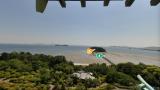 蒲郡クラシックホテル 天守閣のパノラマビューと雨雲レーダー/愛知県蒲郡
