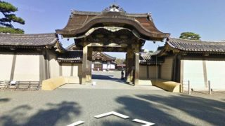 二条城のストリートビューと雨雲レーダー/京都府京都市