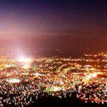 皿倉山展望台からの夜景パノラマビュー