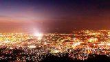 皿倉山展望台からの夜景パノラマビューと雨雲レーダー/福岡県北九州市