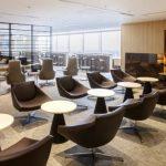 羽田空港・国際線 JAL「サクララウンジ(Sakura Lounge)」パノラマビュー