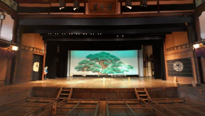 内子座のパノラマビューと雨雲レーダー/愛媛県内子町