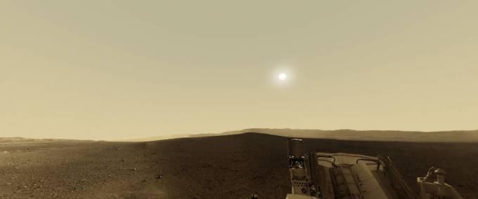 火星探査機『キュリオシティ』が撮影した火星のパノラマビュー