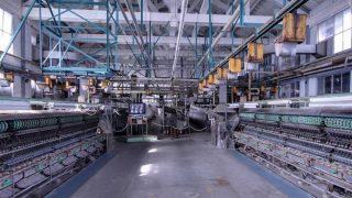 世界遺産:富岡製糸場の繰糸工場のストリートビューと雨雲レーダー/群馬県富岡市