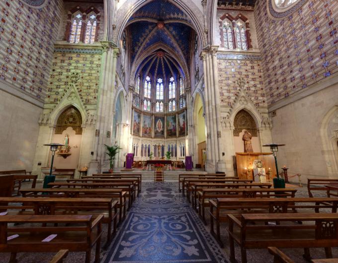 聖フランシスコ・サレジオ教会のパノラマビュー