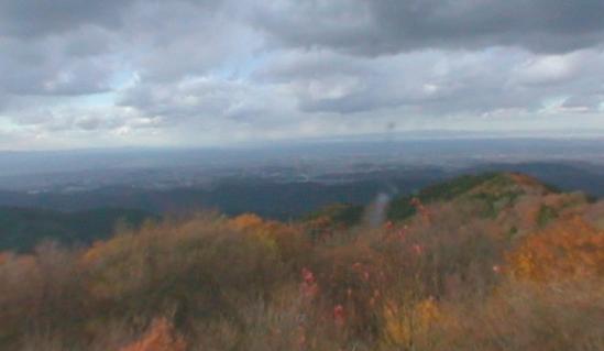 葛城山山頂展望台パノラマビューと雨雲レーダー/和歌山県紀の川市