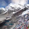 エベレスト街道のカラパタール(標高5550メートル)の360度パノマラビュー