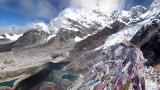 エベレスト街道のカラパタール(標高5550メートル)の360度パノマラビュー/ネパール