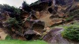 虫食い岩パノラマビューと雨雲レーダー/和歌山県古座川町