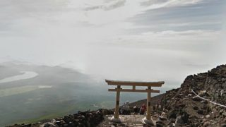 5合目から山頂までの富士山のストリートビューと雨雲レーダー