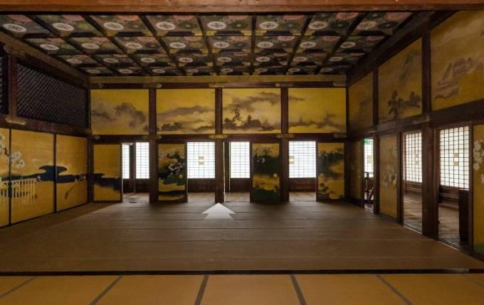 停止中:二条城のパノラマビューと雨雲レーダー/京都府京都市
