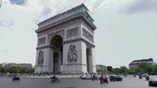 フランス 凱旋門の周りをぐるぐるできるストリートビュー