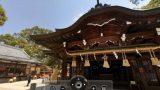 宇美八幡宮のパノラマビューと雨雲レーダー/福岡県糟屋郡志免町