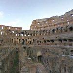 歴史的な建造物イタリア コロッセウム内のストリートビュー
