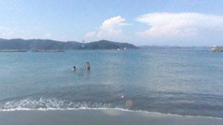 ドラゴンビーチ(竜の浜)のパノラマビューと雨雲レーダー/高知県土佐市
