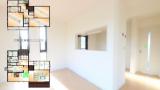 モデルハウス「グルニエ・サントリナ」のパノラマビューと雨雲レーダー/愛知県豊橋市
