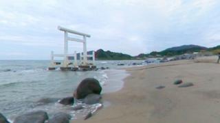 二見ヶ浦パノラマビューと雨雲レーダー/福岡県糸島市