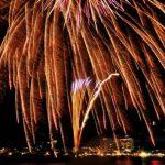諏訪湖の花火の様子が見れるパノラマビュー