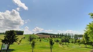 ひがしかぐら森公園のパノラマビューと雨雲レーダー/北海道東神楽町