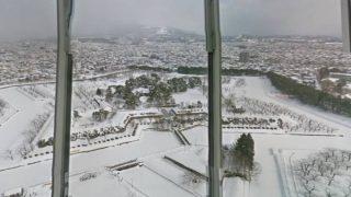 冬の五稜郭が美しすぎる!五稜郭タワーのストリートビューと雨雲レーダー/北海道函館市
