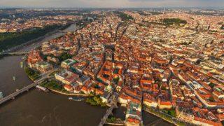 首都プラハを一望できるパノラマビュー/チェコ共和国
