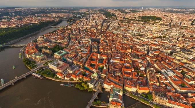 首都プラハを一望できるパノラマビュー