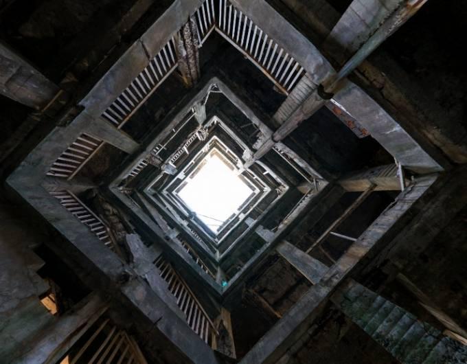 廃墟好きにおすすめ!日本最古の鉄筋コンクリート造アパート 軍艦島 30号棟(グラバーハウス)のパノラマビューと雨雲レーダー/長崎県長崎市