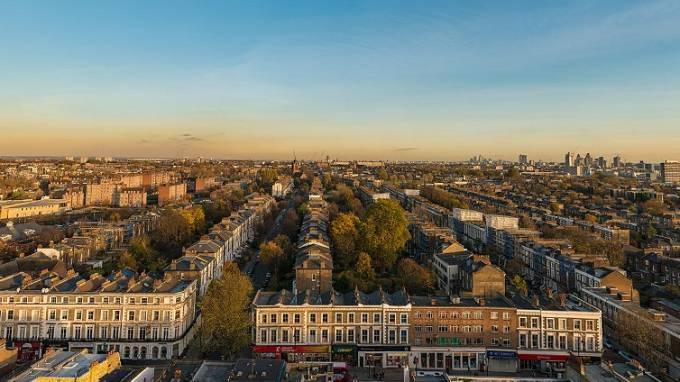 ロンドンの町並みパノラマビュー/イギリス