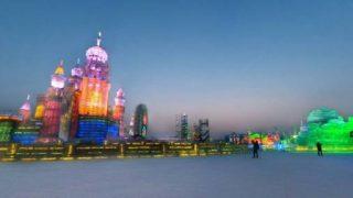 ハルビン氷祭りパノラマビュー/中国ハルビン市
