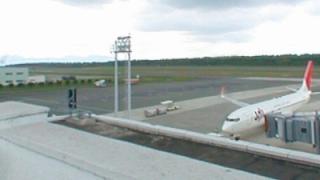 阿蘇くまもと空港パノラマビューと雨雲レーダー/熊本県菊陽町