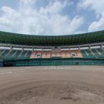 佐賀県立森林公園の球場のパノラマビュー