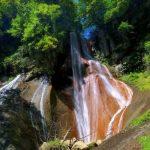 草津温泉 嫗仙の滝 がみえるパノラマビュー