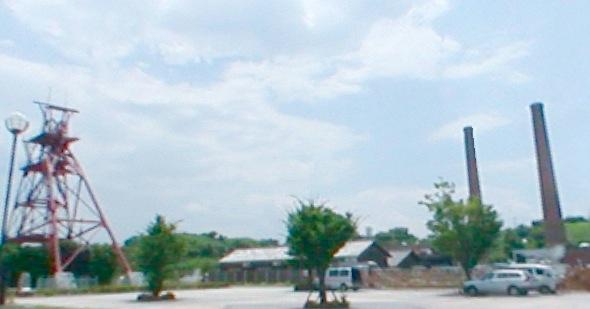 田川市石炭・歴史博物館のパノラマビューと雨雲レーダー/福岡県田川市