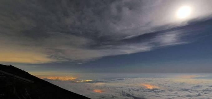 富士山 胸突山荘(むなつきさんそう)周辺パノラマビューと雨雲レーダー/静岡県富士宮市