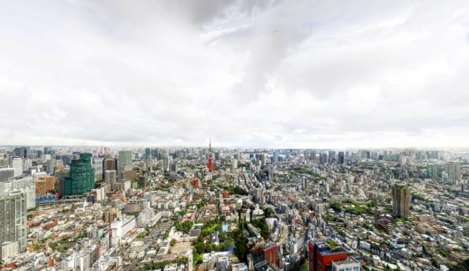 これはすごい!六本木ヒルズ屋上からの超解像度のパノラマカメラと雨雲レーダー