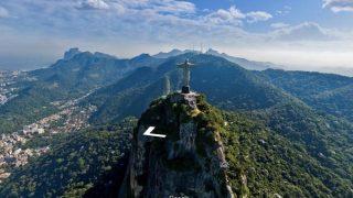 コルコバードの丘のキリスト像やリオデジャネイロの街が上空から見れるストリートビュー/ブラジル・リオデジャネイロ